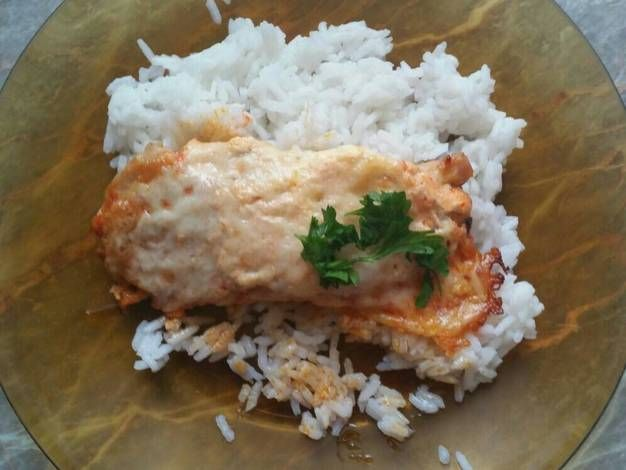 Tejfölös-sajtos csirkemell