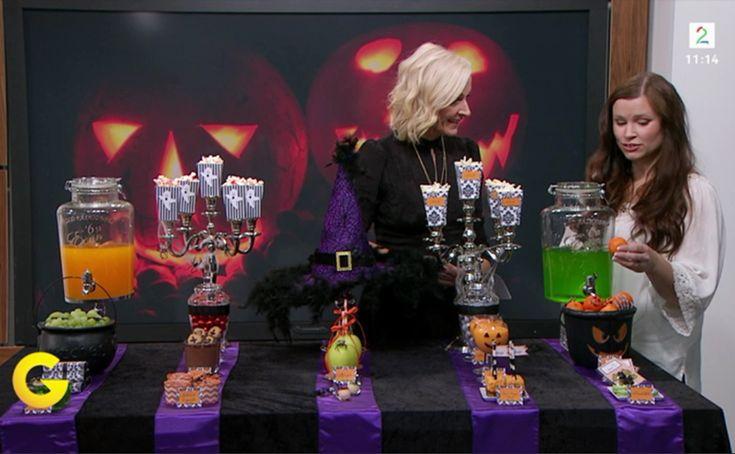 Halloween sweet table - dessert table  God morgen Norge tv2 dessertbord =) GMN halloween 2015