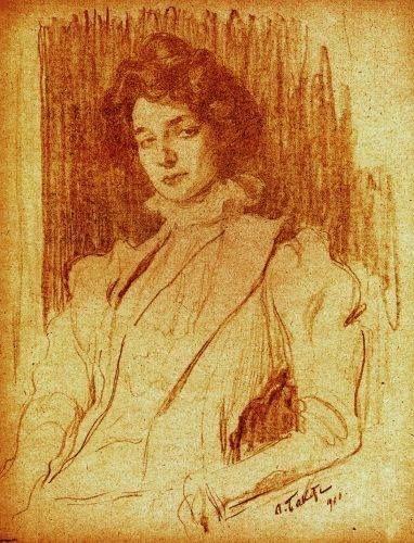 Л.Бакст портрет Зинаиды Гиппиус