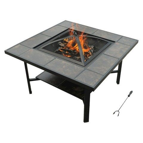 Leisurelife 4 in 1 coffee table grill cooler firepit for Coffee tables you can eat on