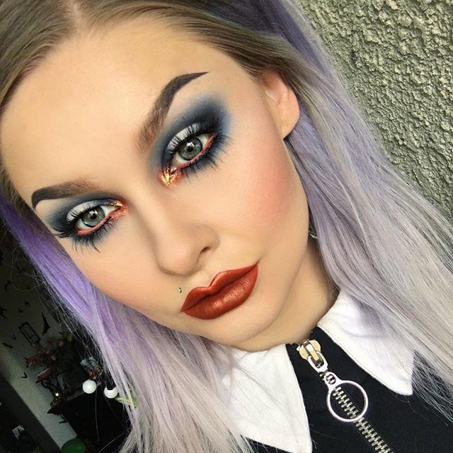 Did this look on Snapchat today! Username: alyssamariemua Contour: @benefitcosmetics Dew The Hoola and @peachesmakeup Sculpting Powder Light/Medium Blush: @benefitcosmetics Dandelion Dew and Dandelion Blush Highlight: @starcrushedminerals Sweet Spot Lips: @limecrimemakeup Pumpkin Velvetine and Penny Perlees Dress: @deandri Alice Dress #benefitcosmetics #peachesmakeup #starcrushedminerals #limecrime #deandri