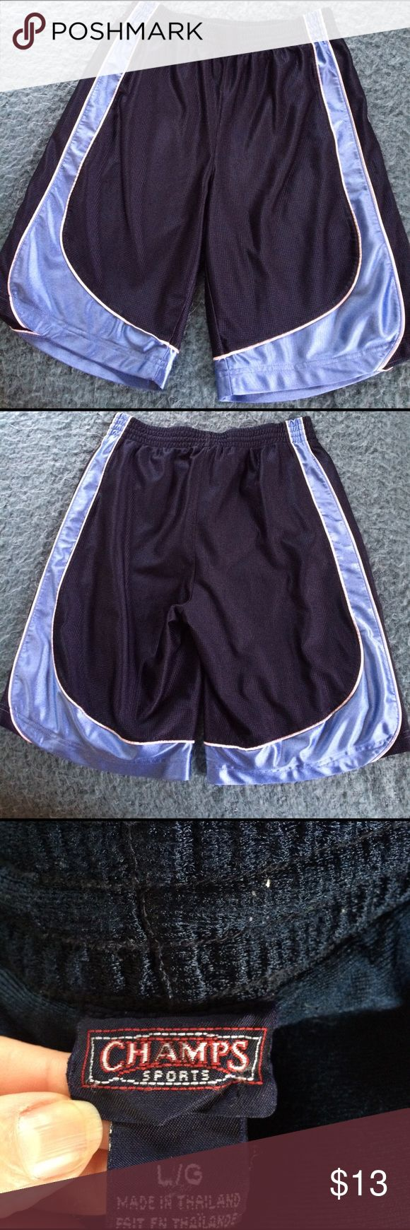 Champs Sports shorts size Large preowned Good condition. 100% polyester Champs Sports Shorts Athletic