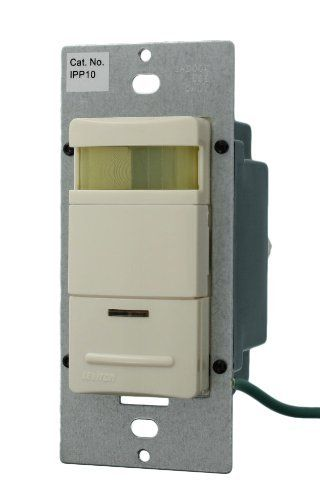 Leviton IPP10-1LT 800W 120-Volt AC 60Hz 180 Degree Decora Passive Infrared Wall Switch Occupancy Sensor, Residential Grade, Light Almond by Leviton. $54.00. From the Manufacturer                Leviton-Foots Decora Manual-ON Occupancy Sensor acts like a standard wall switch and complies with the California Title 24 Residential Lighting Standards for 2005. It has the added energy savings benefit that if you forget to turn the lights OFF, the lights will turn OFF ...