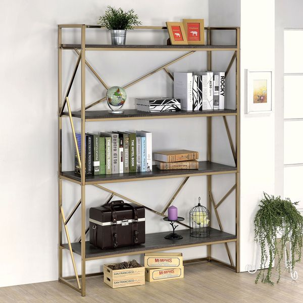 1000 ideas about bookshelf makeover diy on pinterest for Furniture of america nara contemporary 6 shelf tiered open bookcase