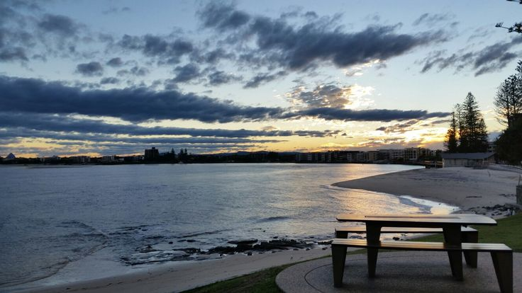 Best seat in the house to relax and rake in Caloundra's beautiful sunset. So blissful. A must-do. #travel #caloundra #sunset