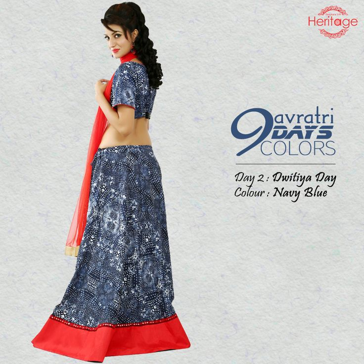 Are you following the #Navratri9Days9Colors? Adorn the colour navy blue on the second day of Navaratri and stay blessed!