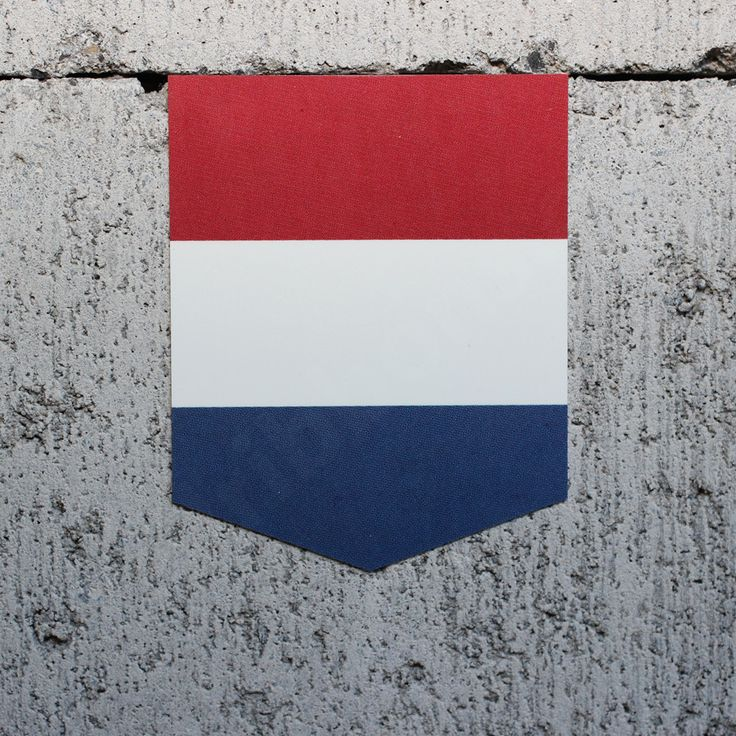 "Flag of the Netherlands car sticker - 2"" x 2.5"""