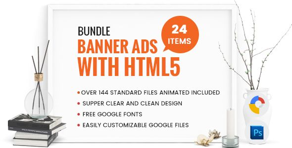 Bundle Banner Ads With HTML5 - Over 144 files GWD
