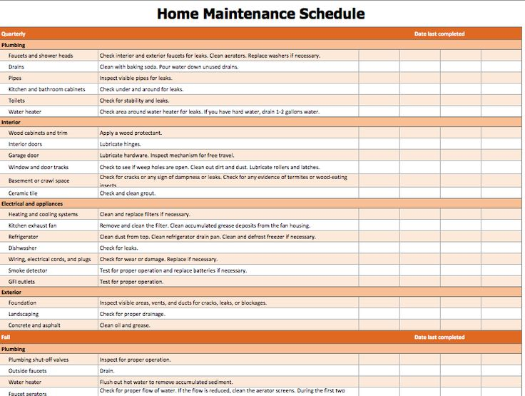 Home Maintenance List Template Official Templates Pinterest - list templates