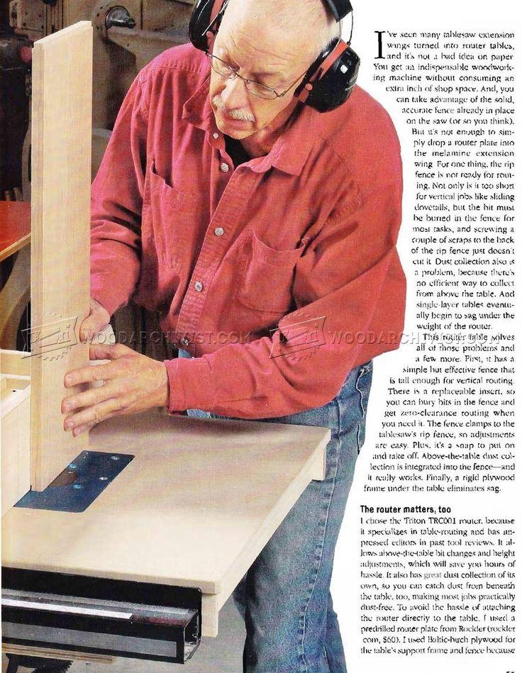 # 2228 Scie à table routeur plans de table - Routeur Scie à table