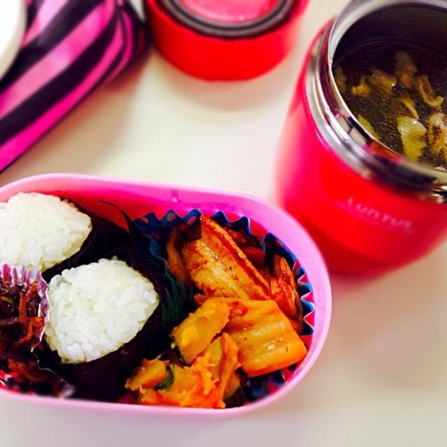 スープはすき焼きのタレを使って味付け - 9件のもぐもぐ - 豚キムチ弁当 by aitim02k03