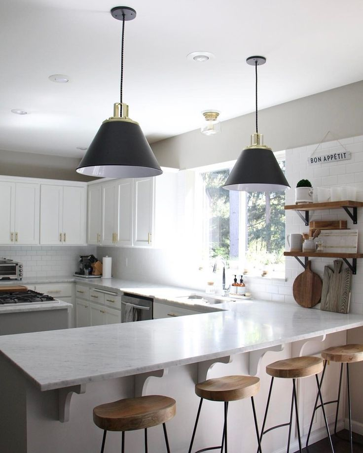 Butte 18 Cone Aged Brass Pendant In 2019 Kitchen