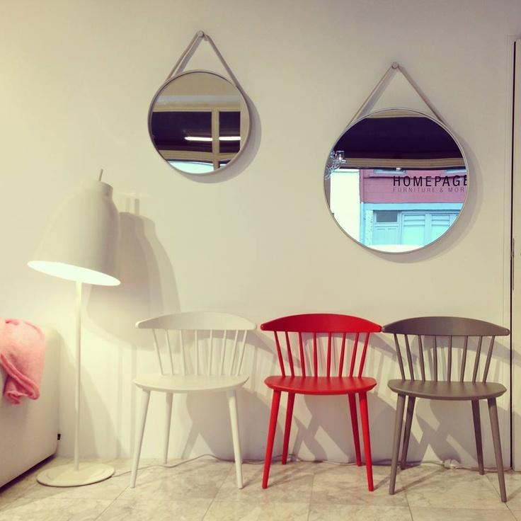 Chairs J104 by HAY, Strap Mirror by HAY ( 50/70 cm)