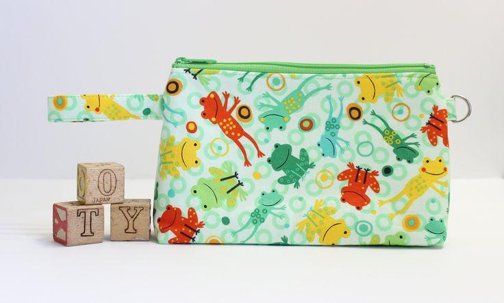 Frog Toddler Purse, Travel Toy Bag, Kids Purse, Toddler Toy Bag, Kids Bag, Kids Pencil Case by LittleFoxSewsLots on Etsy