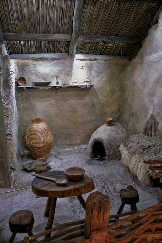 interior of wattle & daub dwelling, Cucuteni Trypillian, Vatican, Rome
