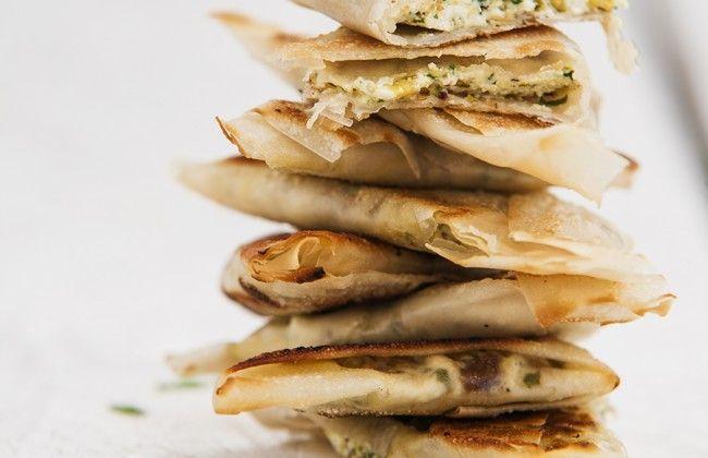 Arabische filodeeghoekjes uit Chickslovefood: het 5 or less-kookboek