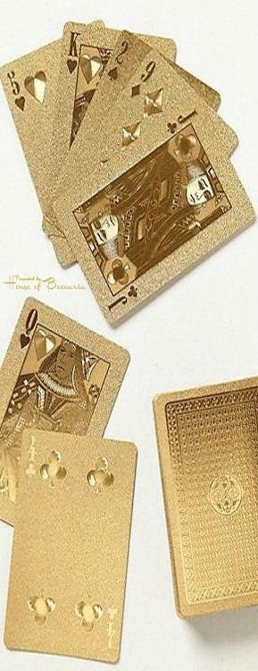 ~High Roller 24k Playing Cards | House of Beccaria