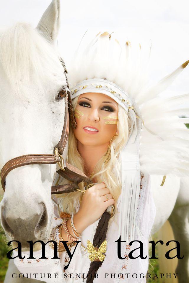 White Horse and Native American Boho inspired senior portrait photo shoot   www.amytara.com   South Florida Senior Portrait Photographer.