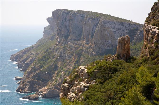 Moraira coastline, Costa blanca, Spain