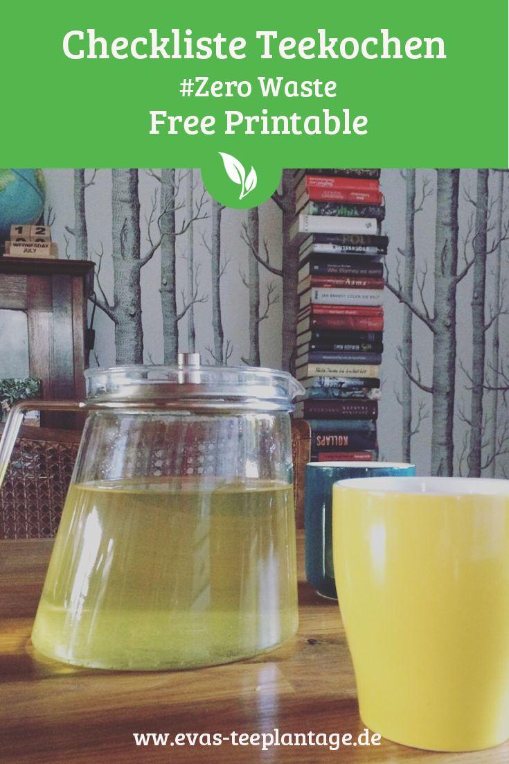 Tee Genuss muss nicht bedeuten, massenhaft Müll zu produzieren. Hochwertiger loser Tee mag es sowieso am Liebsten mit möglichst viel Platz in der Kanne. Ideen und Tipps zum Tee kochen ohne Müll findest du hier im Blogpost inkl. kostenloser Checkliste zum Download (Free Printable). Jetzt gleich mal lesen >>>