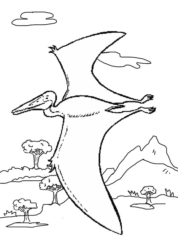free online pterosaurs colouring page kids activity sheets dinosaur colouring pages. Black Bedroom Furniture Sets. Home Design Ideas