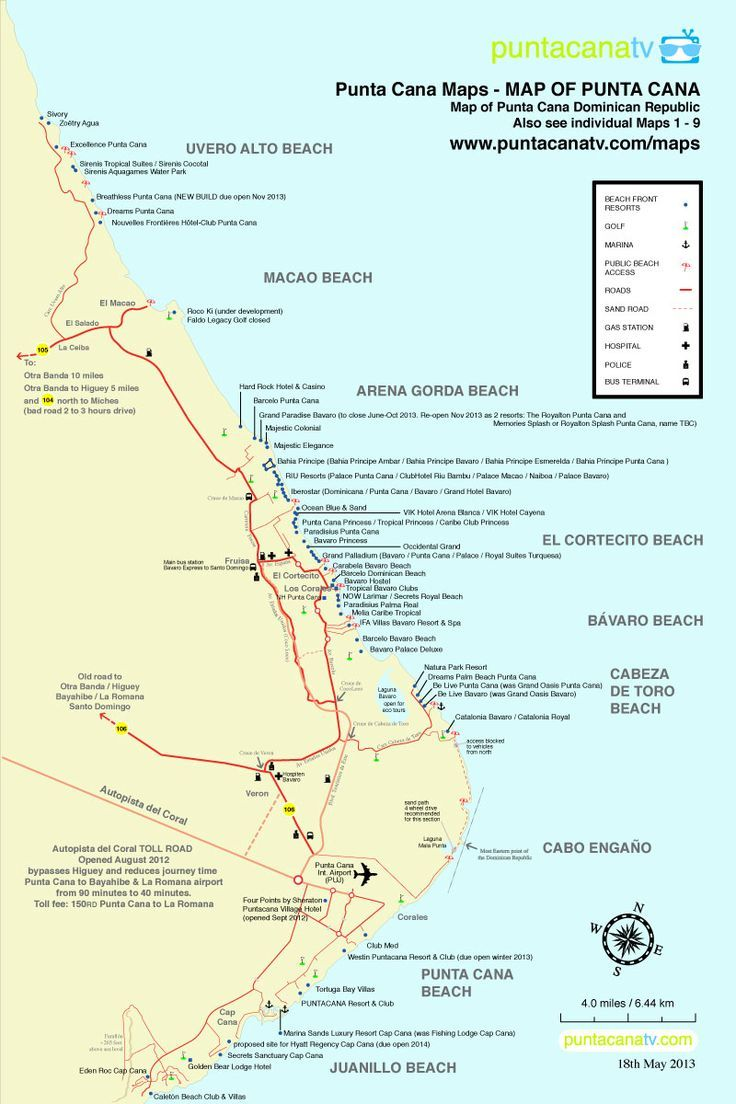 Map Of Resorts In Punta Cana Dominican