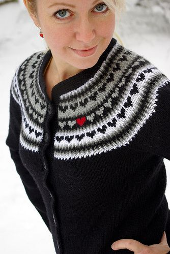 #Heart #Cardigan http://www.ravelry.com/patterns/library/03-heart-yoke-cardigan