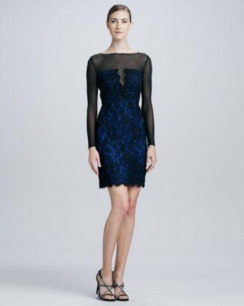Women's ML Monique Lhuillier Illusion Lace Cocktail Dress by ML Monique  Lhuillier