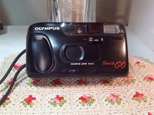 Máquina Fotográfica Olympus Shoot & Go Câmera Antiga Complet