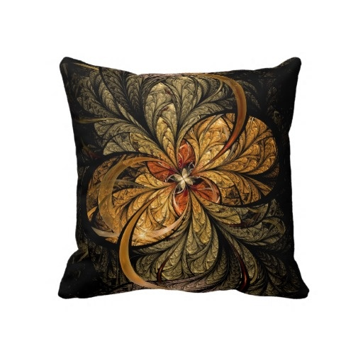 Shining Leaves Fractal Art Throw Pillow $66.65 #fractals #abstract #art #pillows #home #decor