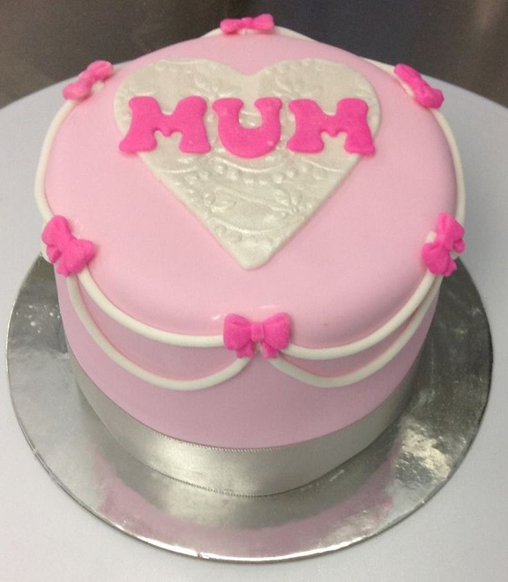 Mothers Day Mini Cake decorated by Coast Cakes Ltd
