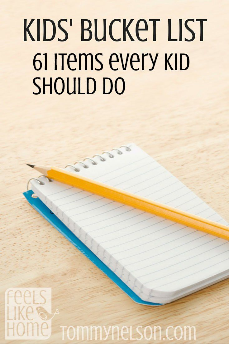 This is a great list! It includes big things like climbing the Eiffel Tower with little things like making mud pies, so there is truly something for every kid. Or maybe 50 things for every kid. Check it out!