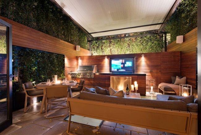 modernes stadthaus terrasse entertainment lounge bereich