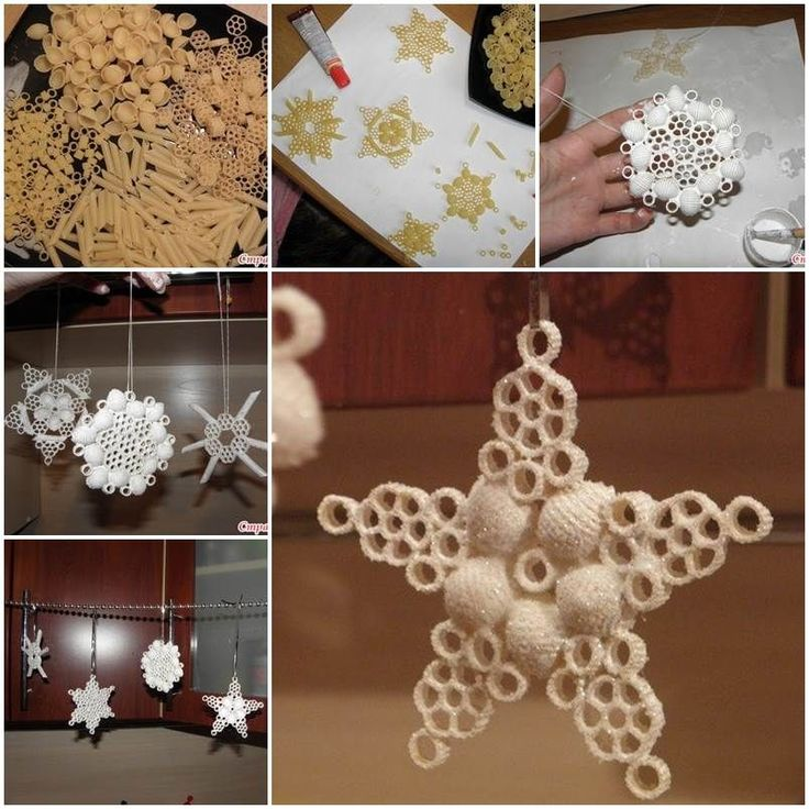 Creative Ideas - DIY Pasta Snowflake Ornaments | iCreativeIdeas.com Follow Us on Facebook --> https://www.facebook.com/iCreativeIdeas