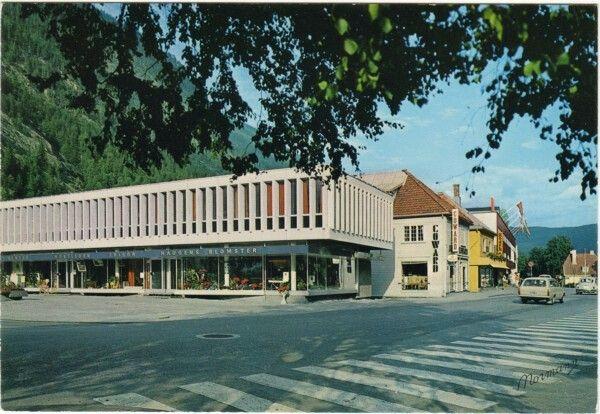 Telemark fylke Tinn kommune Rjukan sentrum 1970-tallet Utg Normann