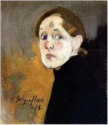 Helene Scherfbeck selfportraits