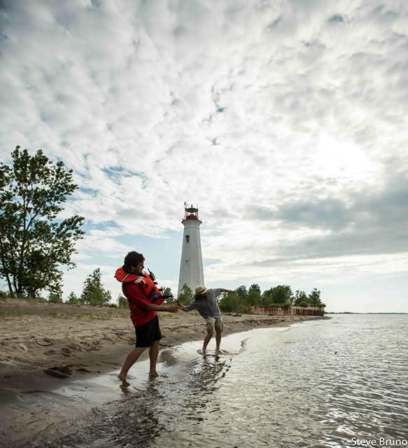 Best place in town to skip stones! The Tip of Long Point Ontario ~ Photo taken by Steve Bruno ~ Ontario Tourism