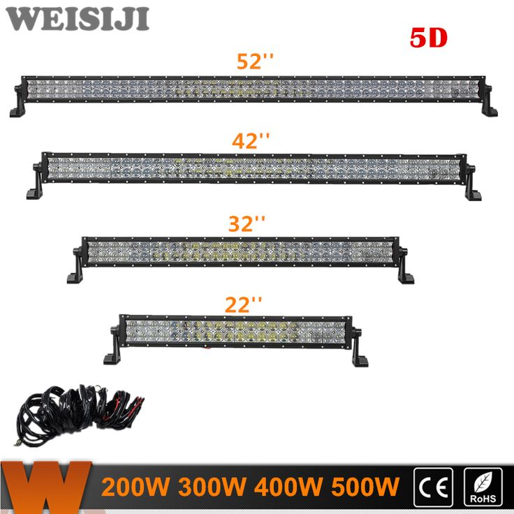 "==> [Free Shipping] Buy Best WEISIJI Offroad Led Work Light 22"" 32"" 42"" 52"" 5D Straight LED Light Bar With CREE Chips Combo Beam for Jeep Truck ATV SUV 4WD Online with LOWEST Price 