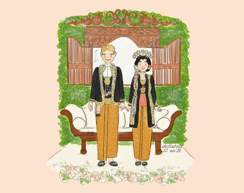 Javanese Wedding Illustration - Solo Putri