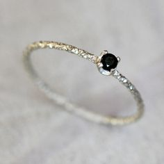 Black diamond ring from Praxis Jewelry