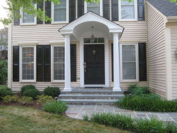 Best Portico Designs Images On Pinterest Front Doors Front - Colonial portico front entrance
