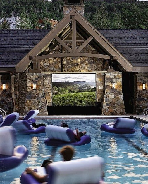 you could even watch movies in a Swimming-Pool Movie Theater