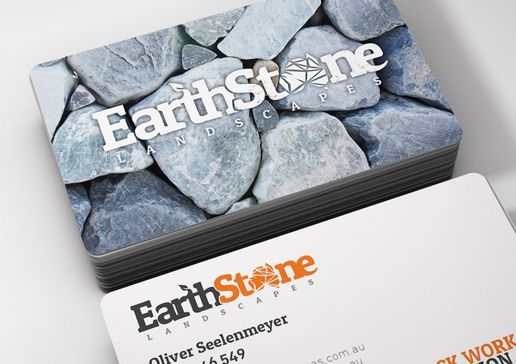 EarthStone Landscapes - Logo & Business Card Design By The Sound Of Breaking Glass