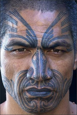 the Maori culture is so cool, they also have really awesome tattoos on their faces and bodies