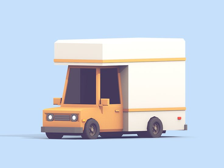 A little moving truck for part of a much larger Twitch project.