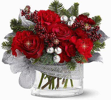 INDICE DEL ARTICULO1 Piñas navideñas y flores naturales.2 Esferas doradas y Rosas Blancas. 3 Esfera navideña gigante, Rosas Rojas y listones en dorado. 4 Una hermosa esfera dorada, Rosas Blancas y listón
