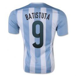 Argentina national team 2015 Home Batistuta #9 Soccer Jersey [A914]
