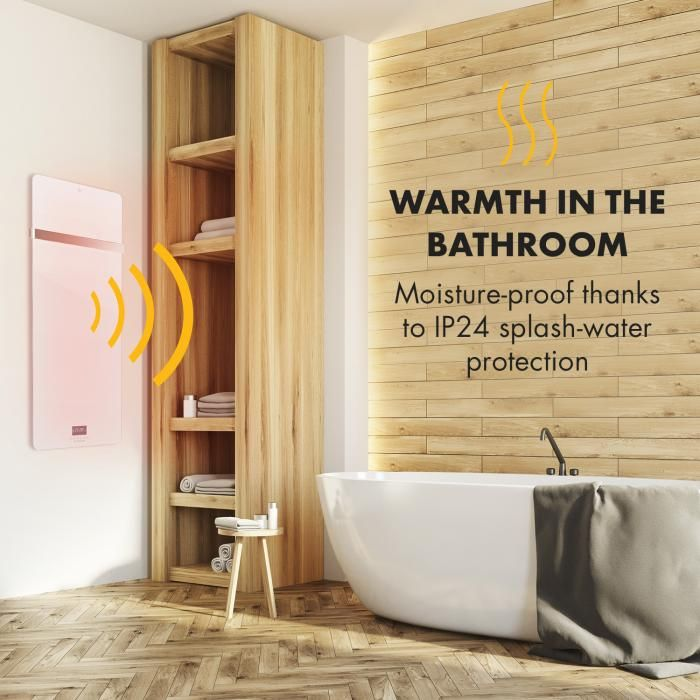 Hot Spot Crystal Ir Heating Panel White Paneling Warm Bathroom