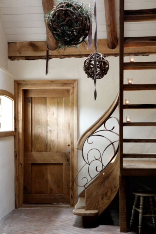 "This lovely staircase is from our feature ""December's Buzz"""