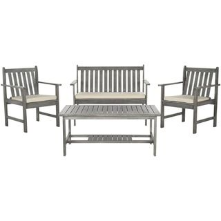 Safavieh Burbank Grey Wash Acacia Wood 4-piece Outdoor Furniture Set |  $481